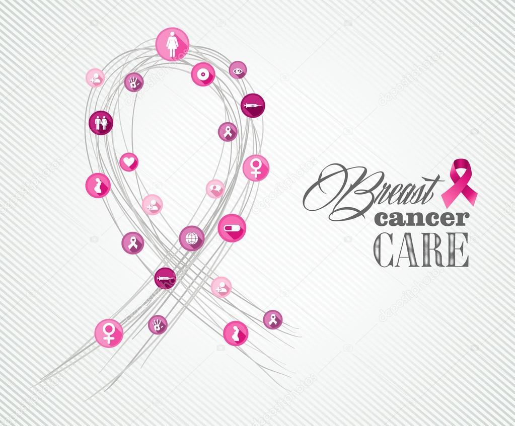 Breast Cancer Awareness Symbols Concept Banner Eps10 File Stock