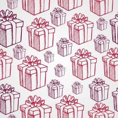 Vintage Christmas presents seamless pattern background. EPS10 fi