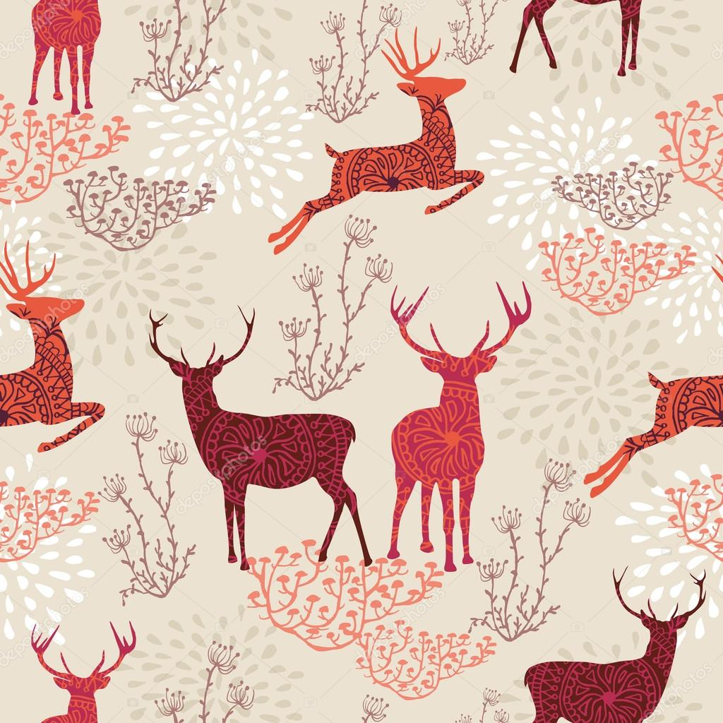 Vintage Christmas elements seamless pattern background. EPS10 fi