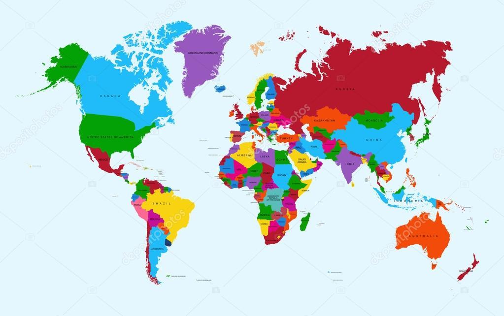 Mapa del mundo archivo colorido pases atlas eps10 vectoriales mapa del mundo archivo colorido pases atlas eps10 vectoriales vector de stock gumiabroncs Choice Image