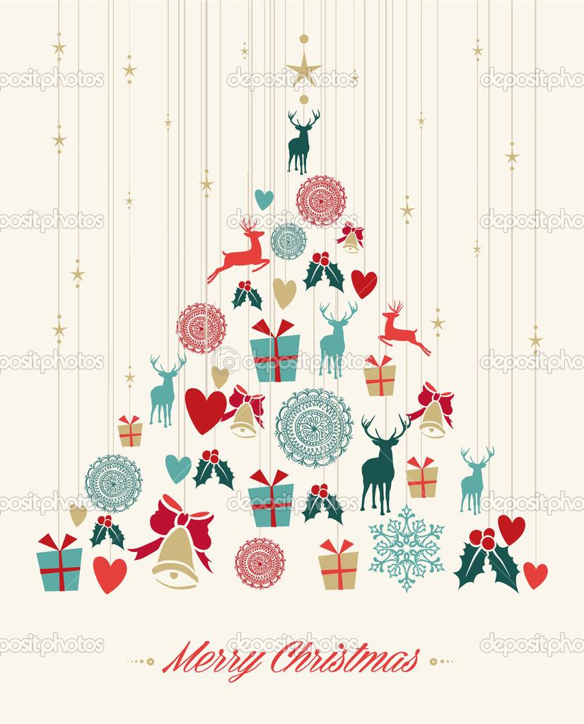 Fondo De Arbol De Pino De Navidad Vintage Archivo Imagenes - Vintage-navidad