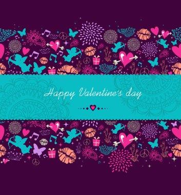 Happy Valentines day banner background