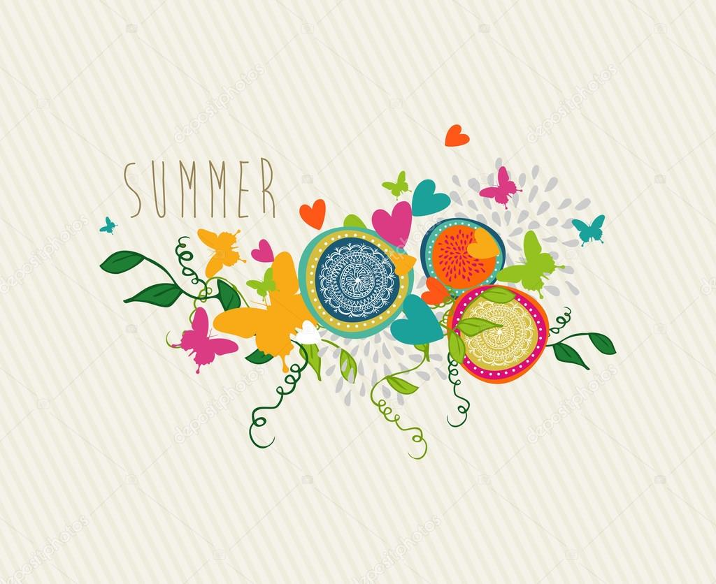Happy Summer greeting card