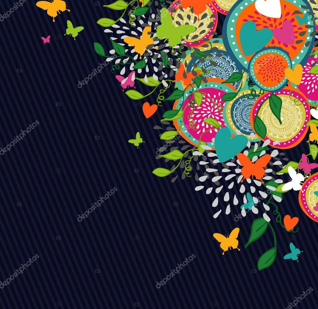 Abstract flowers design background