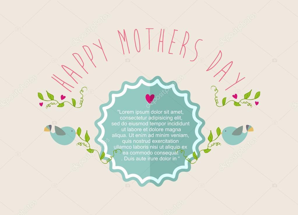 Vintage glücklich Mütter Tag Grußkarte — Stockvektor © cienpies ...