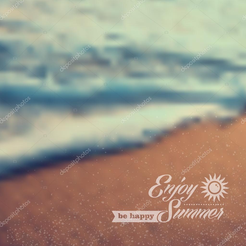 Summer beach vintage blurred background