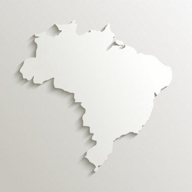Paper map of Brazil