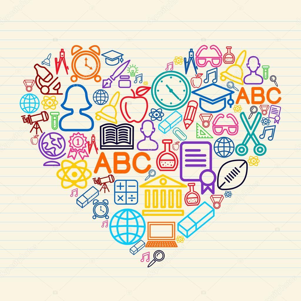 Dibujos Sobre La Convivencia Faciles Regreso A La Escuela Amor