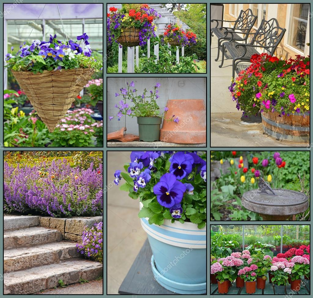 Floral garden collage