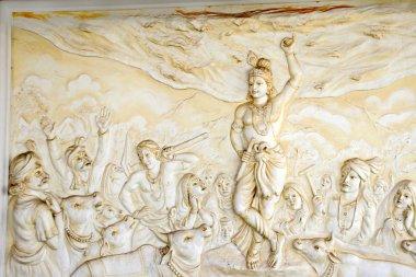 Lord Krishna Lifting Mountain