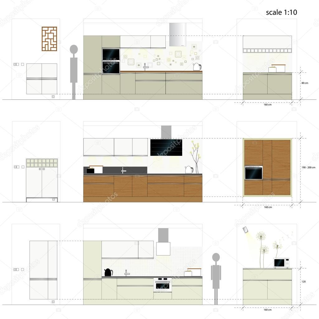 Muebles De Cocina Muebles De Interior Vector Ilustraci N Escala  # Muebles Deinterior