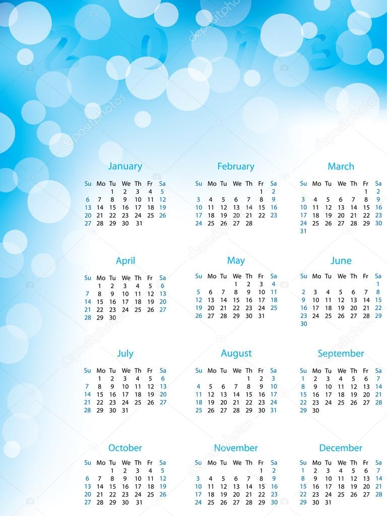 calendrier r u00e9sum u00e9 bulle 2013  u2014 image vectorielle vipervxw