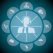 Fényképek Támogatja a szállítmányok infographic design