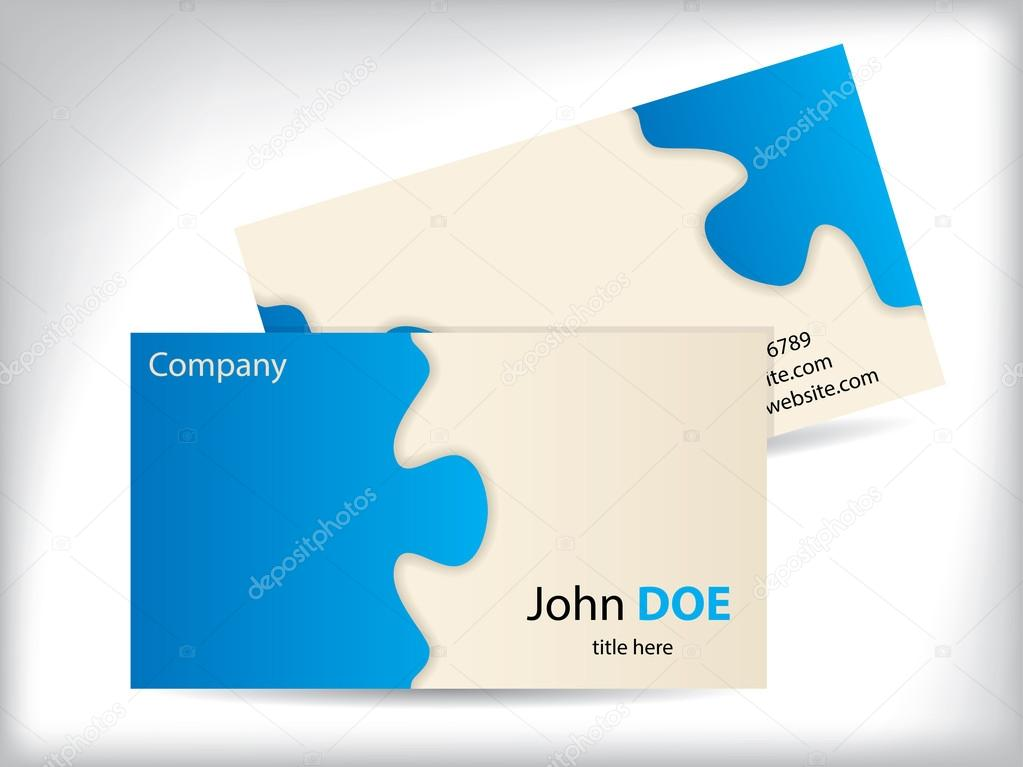 Business card with puzzle design stock vector vipervxw 19882083 business card with puzzle design stock vector colourmoves