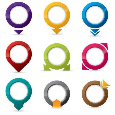 9 different icon designs