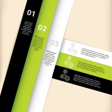 Infographic template design with social network icons