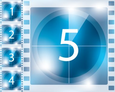 Blue background countdown design
