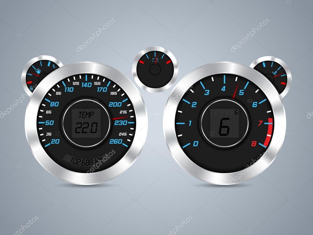 cooles neues Dashboard-design — Stockvektor © vipervxw #37381175