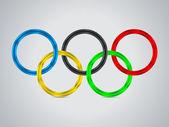 올림픽 반지를 가진 간단한 배경 디자인