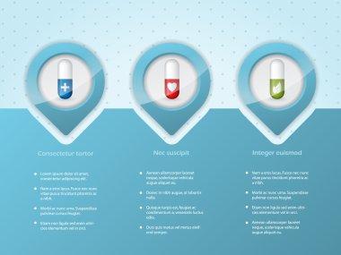 Medical infographic background design