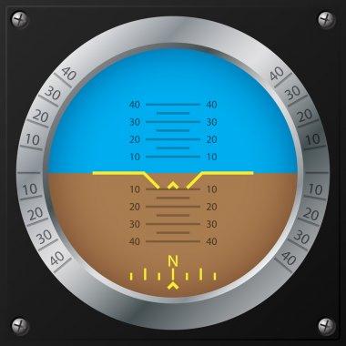 Airplane attitude indicator design