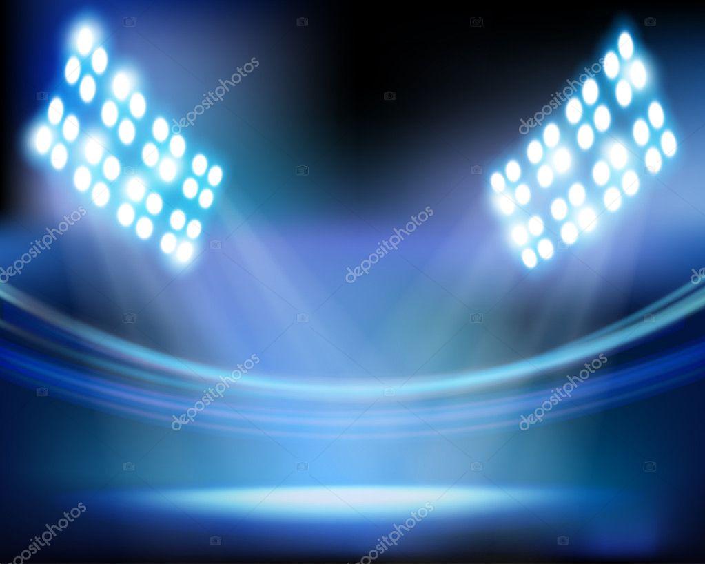Stadium lights. Vector illustration.