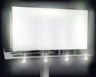 Large billboard. Vector illustration.