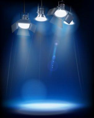 Studio Lights. Vector illustration.