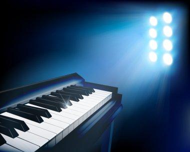 Piano. Vector illustration.