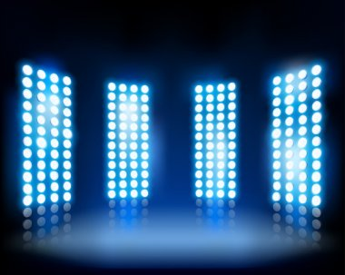 Floodlights. Vector illustration.
