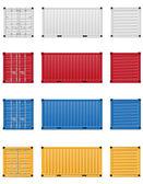 nákladní kontejner vektorové ilustrace