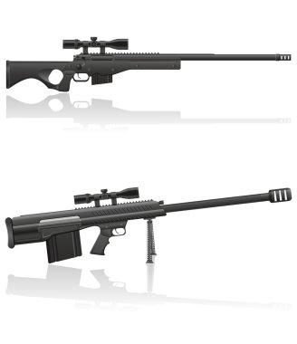 sniper rifle vector illustration