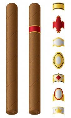 cigar labels for them vector illustration