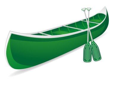 canoe vector illustration