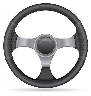 Car steering wheel vector illustration isolated on white background stock vector