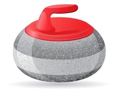 stone for curling sport game vector illustration