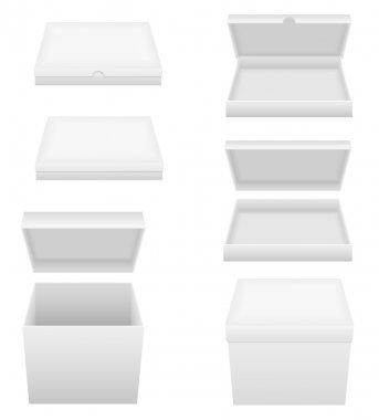 white packing box vector illustration