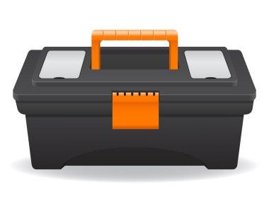 plastic tool box vector illustration