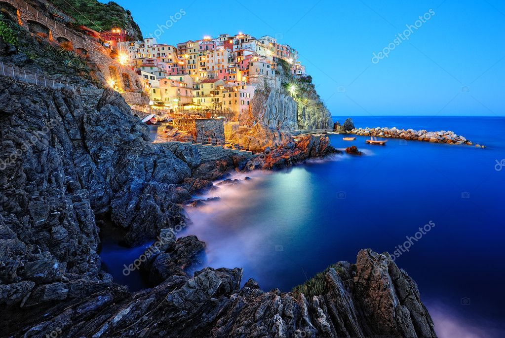 Beautiful evening in Manarola