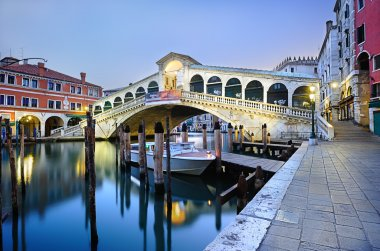 Morning Rialto Bridge in Venice