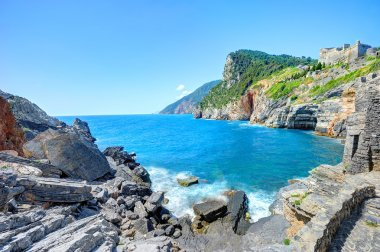 Byron's cave in the Gulf of Poets in Porto Venere