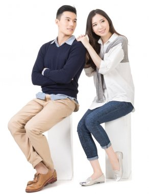 Portrait of young attractive Asian couple