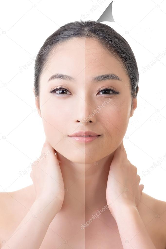 maquillage asiatique avant apres