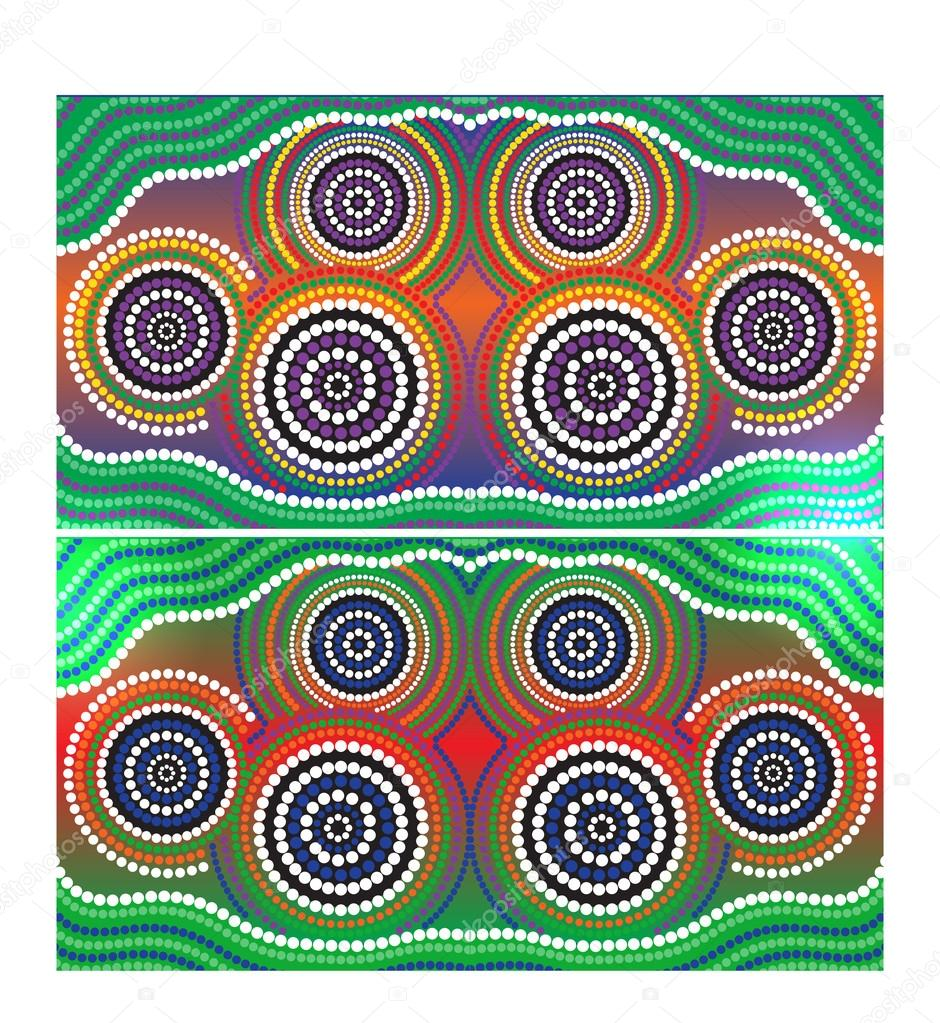 Australia Aboriginal Art Vector Background