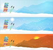 Fotografie Satz von Ski-Reise-Banner