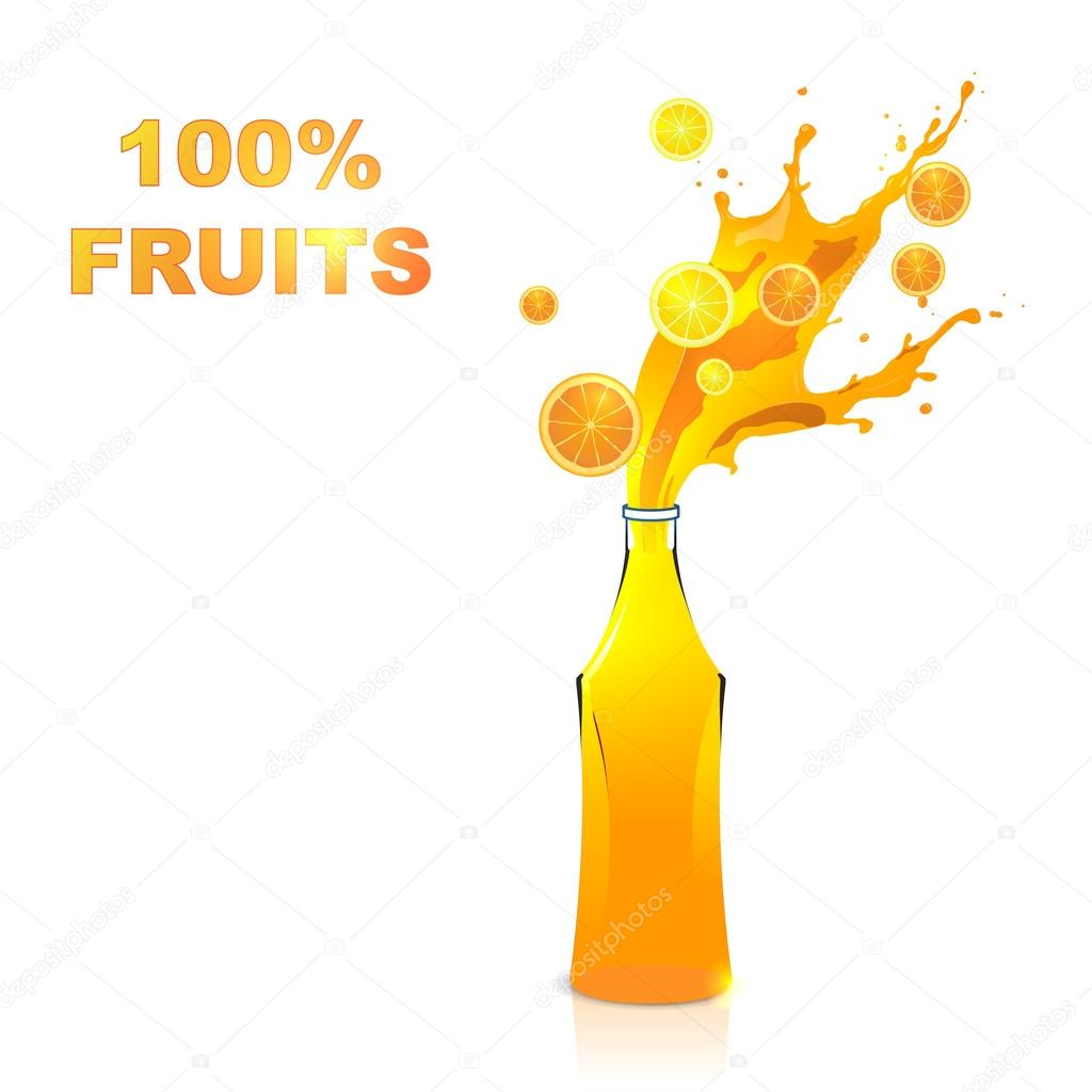Fruits juices collection : Orange and lemon