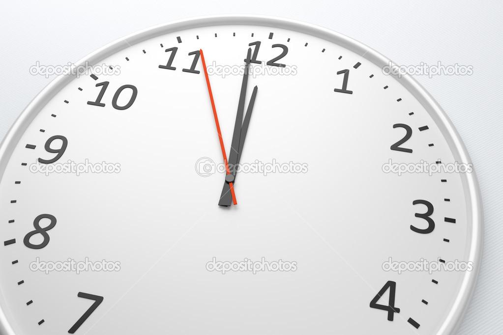 正午に時計します。 — ストック...