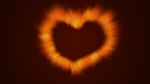 Fire love heart