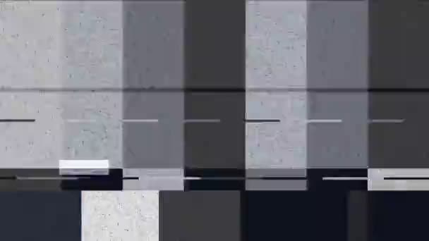 Distorted color bars