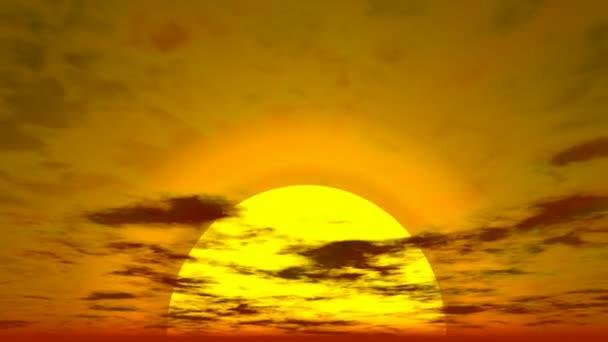 západ slunce scéna s oblaky